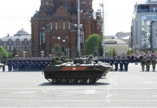 Военный парад по случаю 74-й годовщины Великой Победы в Великой Отечественной войне в Городе-Герое Тула