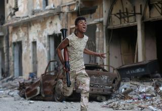 Член Ливийской Национальной Армии.Бенгази.09.11.2017 г. www.cfr.org/interactive/global-conflict-tracker/conflict/civil-war-libya