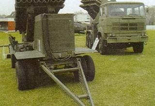 Вариант пусковой установки и боевой машины с ТПК (Аргентина)