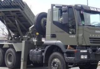 Вариант боевой машины с ТПК (Аргентина)