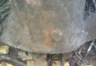 Фрагмент реактивного снаряда, найденного на территории Тульской области. Фотография предоставлена Игорем Ивановичем Козловым (Россия, Город-Герой Тула)