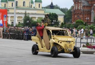 Генеральная репетиция Парада Победы в ознаменование 75-й годовщины Победы в Великой Отечественной войне (1941-1945 годов) в Городе-Герое Туле
