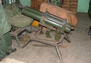 Предположительно, установка для стрельбы ТРС калибра 107 мм. Найдена в Демократической Республике Конго. 2006 год. http://www.armyrecognition.com/forum/viewtopic.php?p=1549&sid=1b70fc40c7487bbc17d5282de1354fff