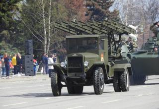 Полунатурный образец боевой машины М-13