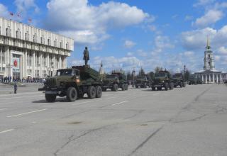 "Боевые машина БМ-21-1 РСЗО ""Град"""