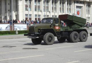 "Боевая машина БМ-21-1 РСЗО ""Град"""