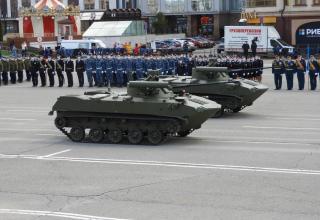 """Модернизированные боевые машины БМД-2 с боевым модулем """"Берег"""""""
