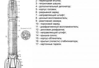 осколочный снаряд М-8
