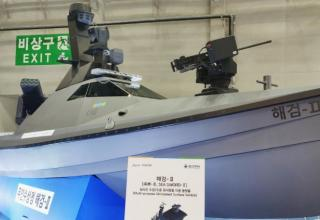 На выставке MADEX 2019 экспонируется опытный образец безэкипажного надводного корабля с РСЗО