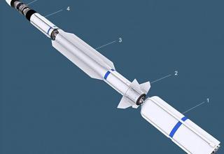 Схема ракеты-перехватчика SM-3 Block-IA