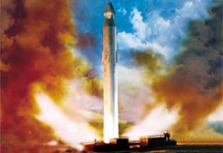 Стратегический ракетный комплекс Р-36 с ракетой 8К67