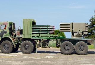 Опытный образец боевой машины для запуска до 50-ти неуправляемых реактивных снарядов калибра 122 мм