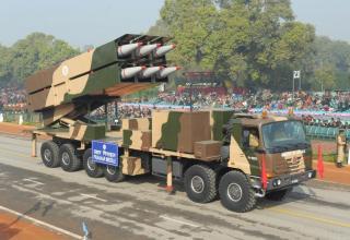 Первые фото новейшей индийской тактической ракетной системы Prahaar