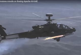 Первый пуск УР Brimstone с борта вертолета АН-64 Apache