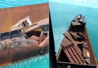 Результат попадания ПКР «Нептун» в корабль-мишень